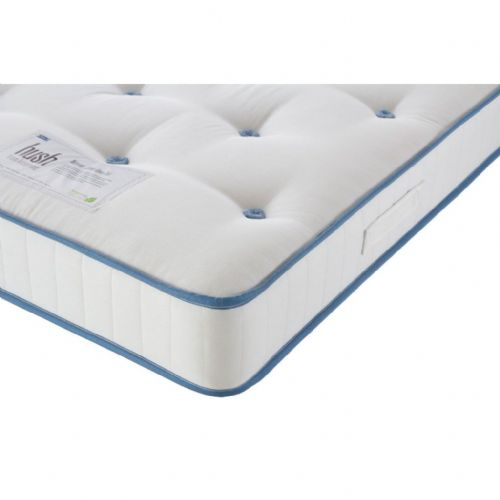 Hush by Airsprung Naturals Junior Open Coil Single Size Mattress (Blue Trim)